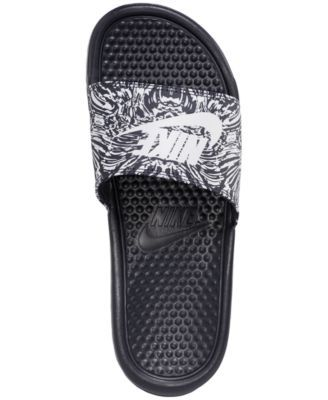 d717be086a0a Nike Men s Benassi Jdi Print Slide Sandals from Finish Line - Blue ...