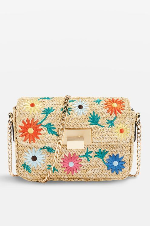 9d07ccce3 Straw Floral Cross Body Bag in 2019 | Products | Bags, Bag ...