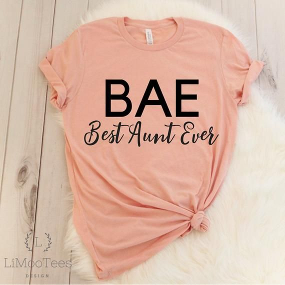 BAE Best Aunt Ever Shirt for Favorite Auntie T-Shirts for Women Cute Top Clothing Funny Shirt Gift Tee With Saying Quote Casual Mother's Day