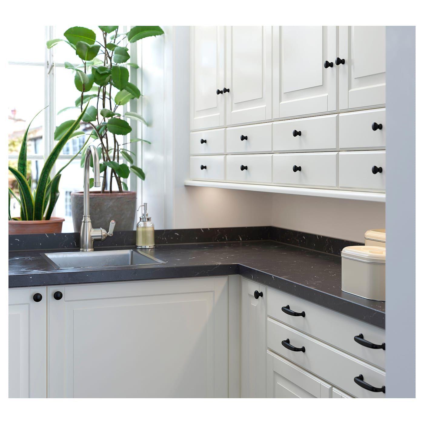 Ikea Saljan Black Marble Effect Laminate Countertop In 2019 Laminate Countertops Ikea Kitchen Countertops Kitchen Countertops