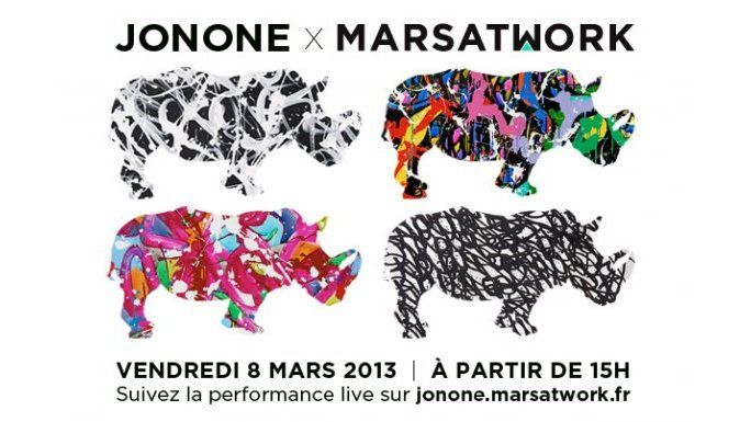 Performance artistique Live de JonOne vendredi 8 mars sur http://jonone.marsatwork.fr