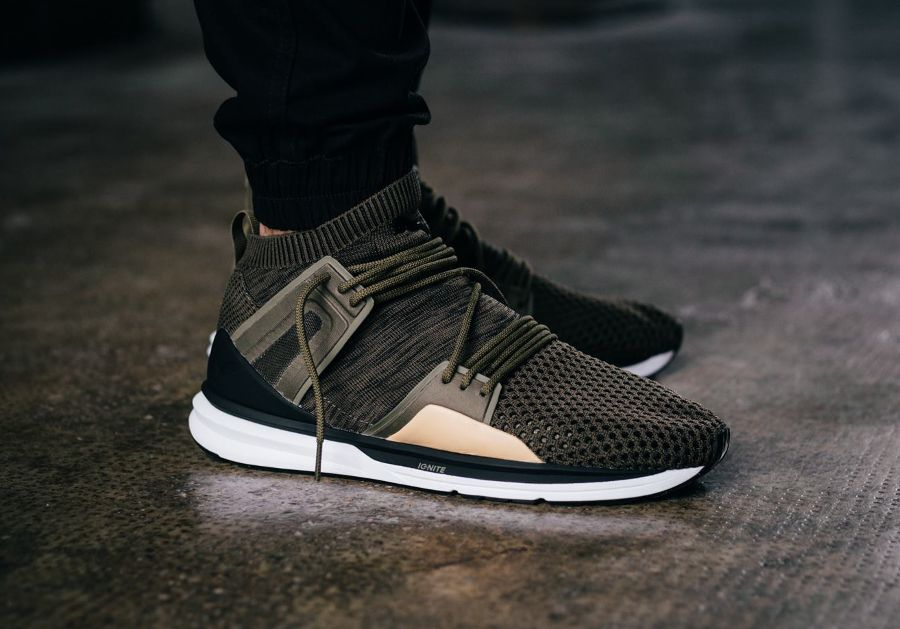 puma olive homme