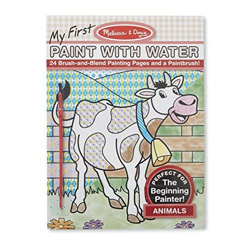 Kids Paint With Water Kits Melissa Doug My First Paint With Water Coloring Book Animals 24 Animal Coloring Books Coloring Books Toddler Painting Activities