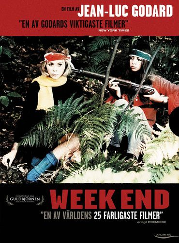 1967 Week End Jean-luc Godard movie poster print