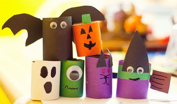 Arte Con Rotoli Di Carta Igienica : Tante idee per lavoretti di halloween con rotoli di carta