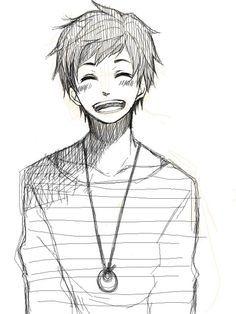 28 Collection Of Happy Anime Boy Drawing Cara Menggambar Sketsa Orang Animasi