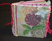 Beautiful Altered Book/Junk Journal on Etsy