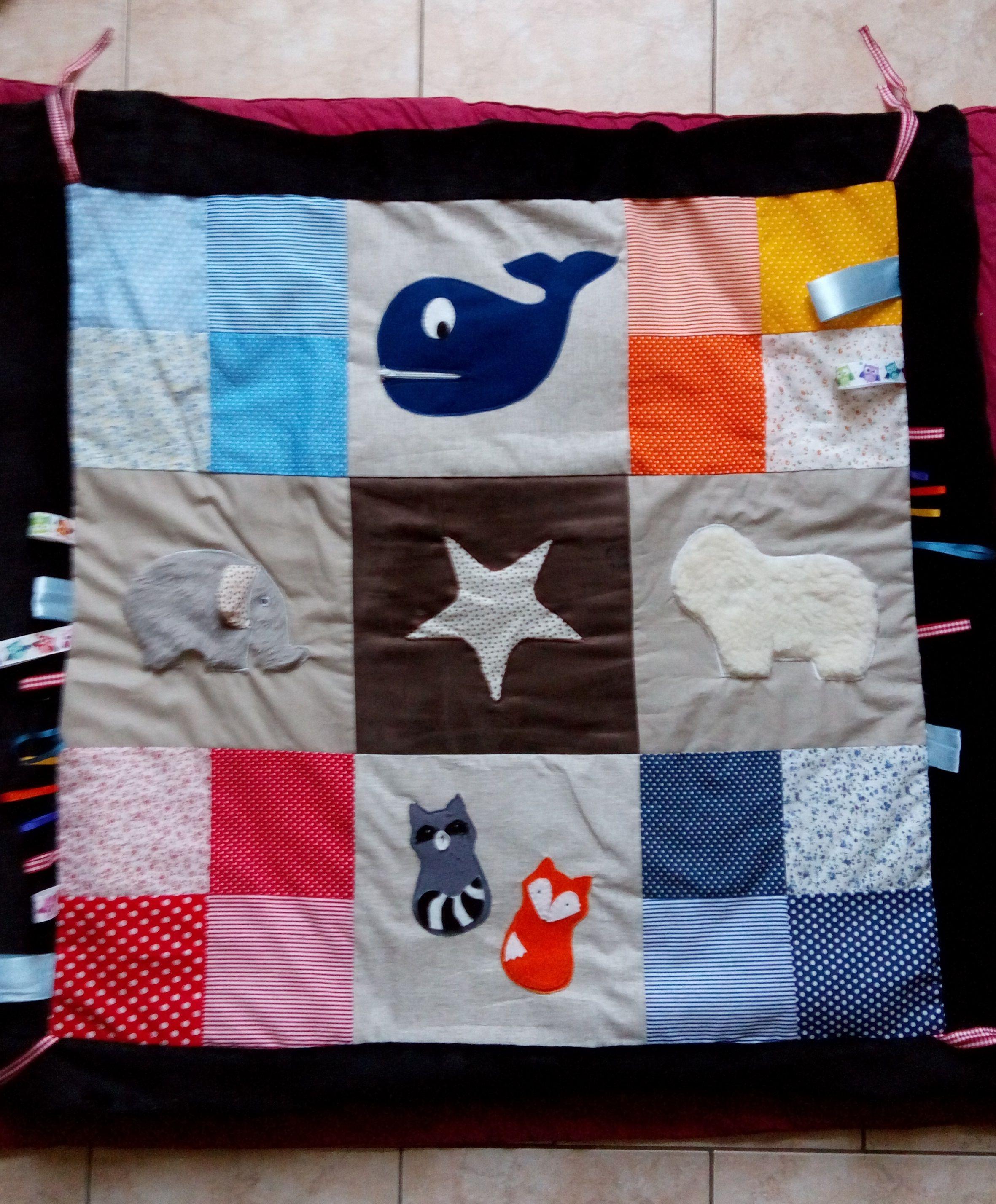 Tuto Tapis D Éveil Nomade tapis d'éveil, stimulation sensorielle, bébé, couture