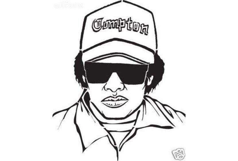 Eazy E Dr Dre Rap Nwa Hip Hop Iron On Transfer