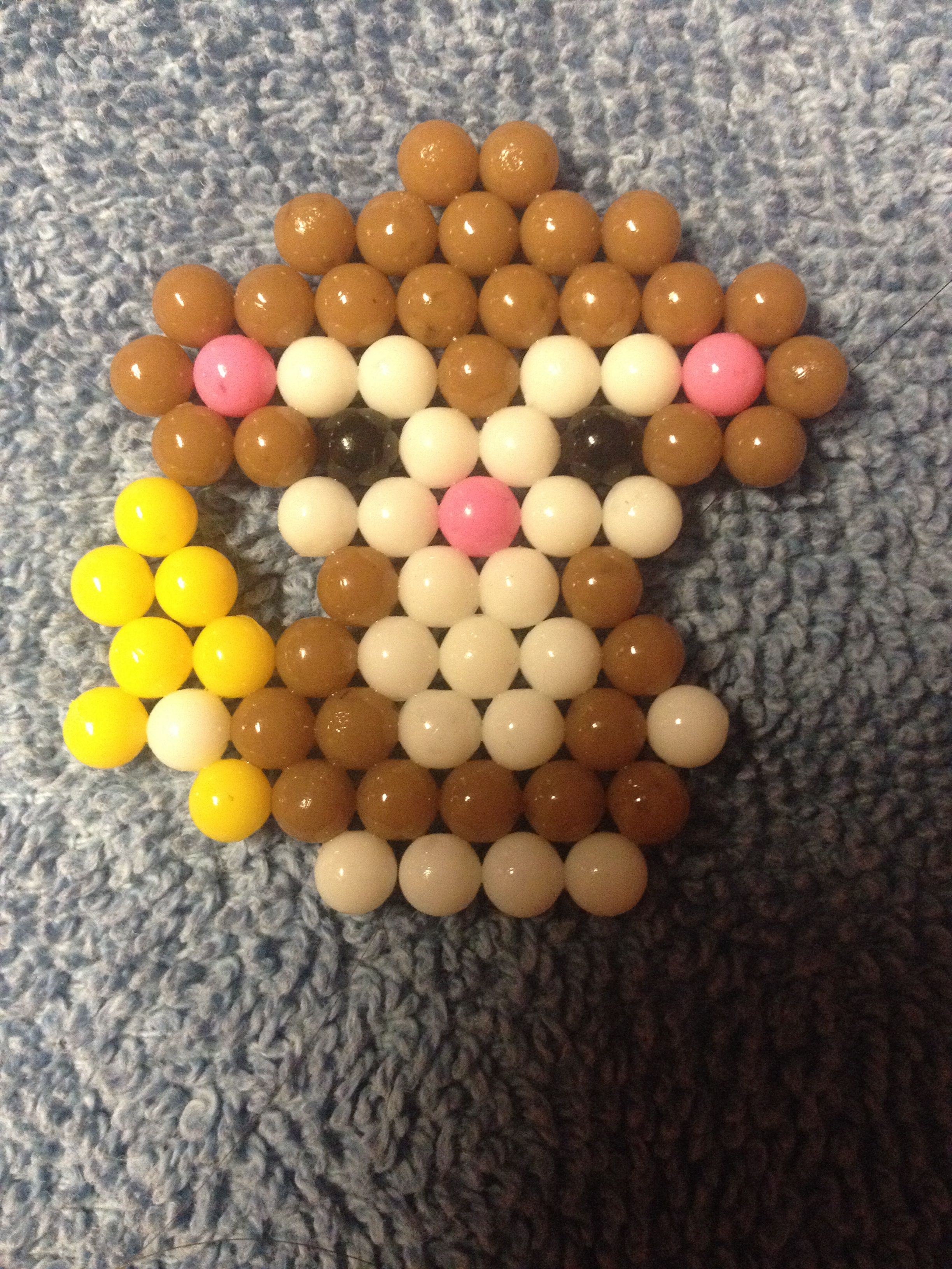 Cute Beado monkey!! | Beados | Perler beads, Pearler beads