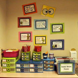writer's workshop setup... I love organization!