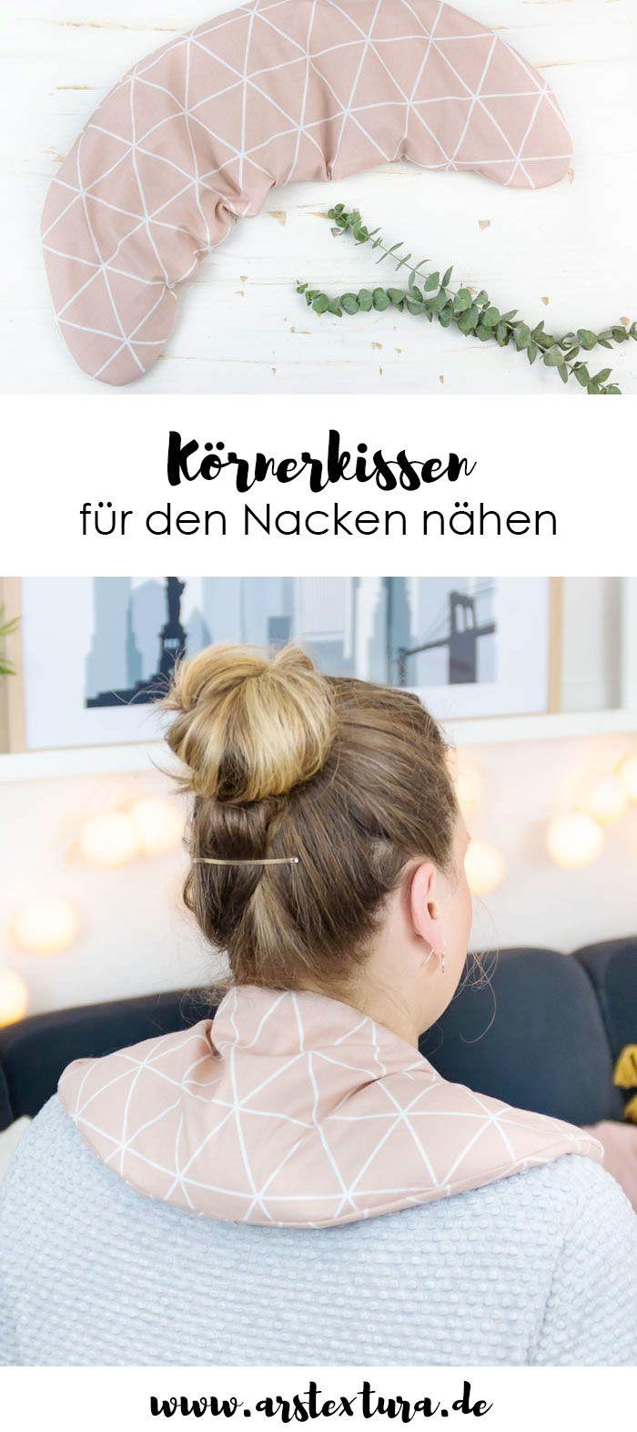 Körnerkissen für den Nacken nähen | ars textura – DIY-Blog #strickenundnähen