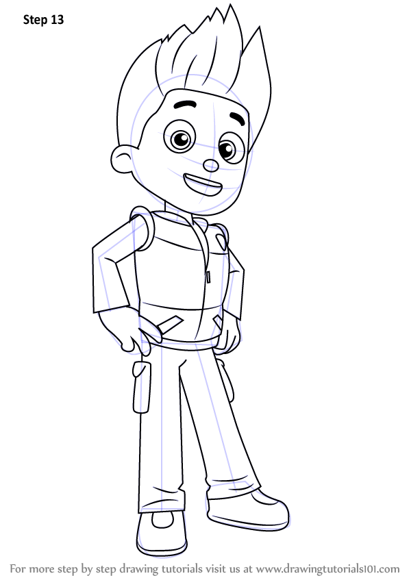 Learn How to Draw Ryder from PAW Patrol (PAW Patrol) Step ...