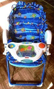 Fisher Price Musical 3 In1 High Chair Swing Car Seat 4 Baby