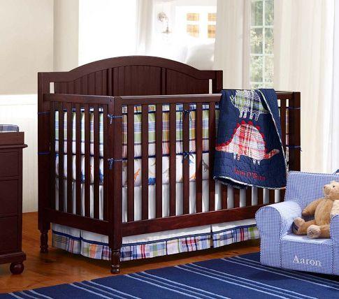 Pottery Barn Catalina Crib In Sun Valley Espresso Madras Nursery Baby Boy Room Themes Cribs