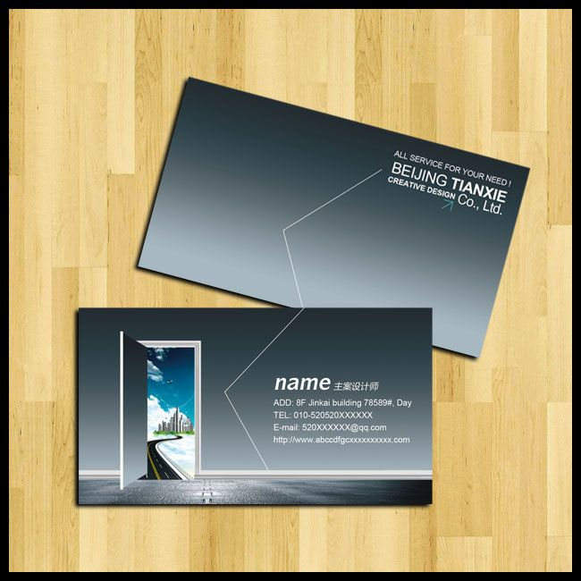 architectural decoration decoration business card design psd