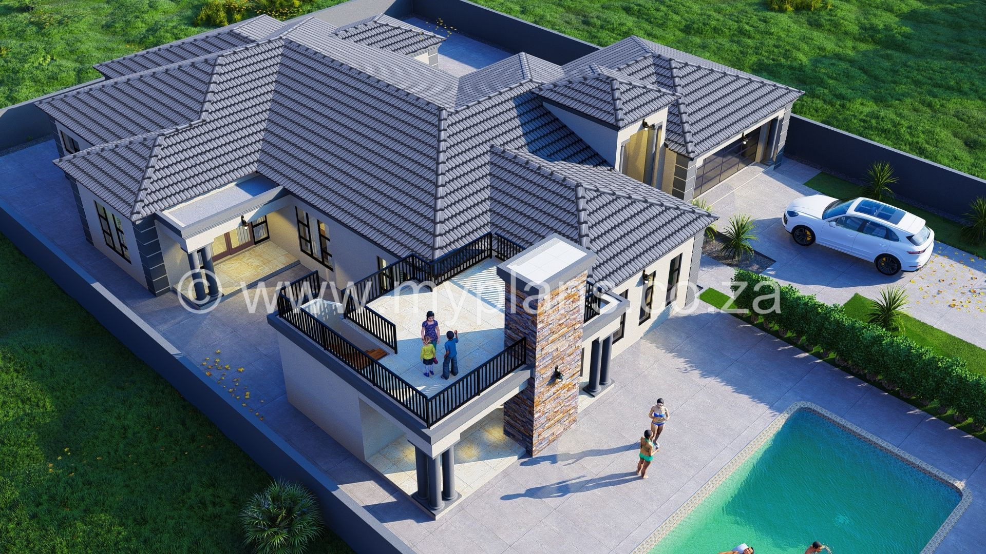 4 Bedroom House Plan Bla 021 10s Bedroom House Plans House Plans South Africa Double Storey House Plans