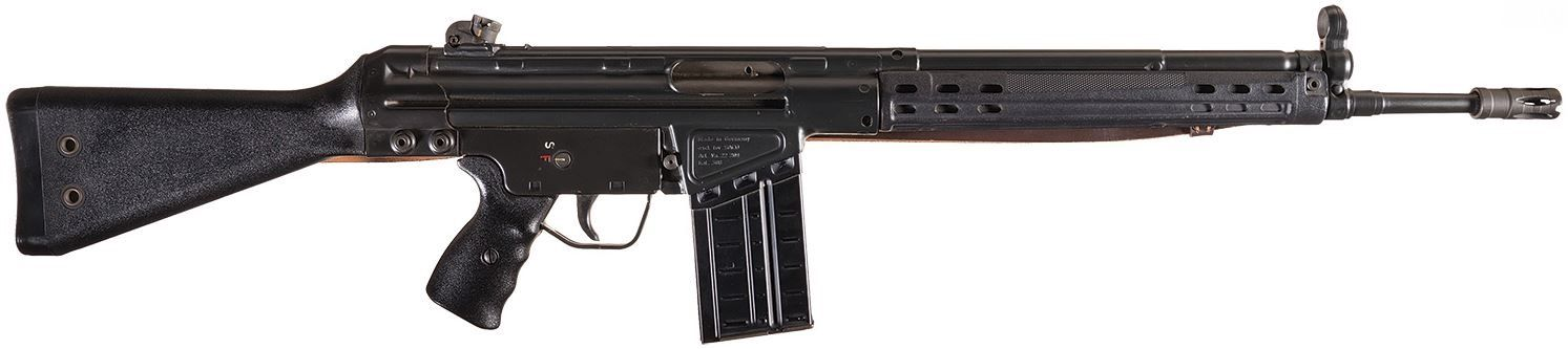 Scarce and Excellent 1974 Import Heckler and Koch HK91 Semi-Automatic Rifle with .22 Long Rifle Conversion Kit