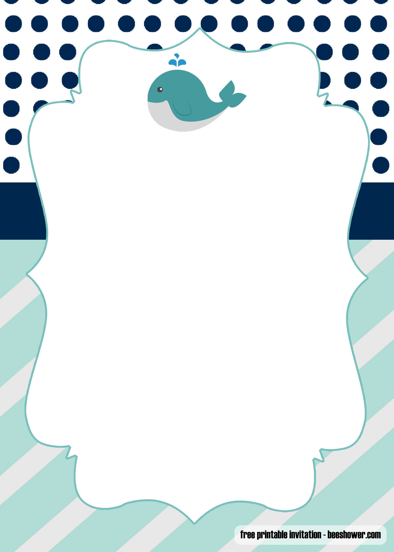 Free Printable Whale Baby Shower Invitations Templates Whale Baby Shower Invitations Baby Shower Invitations Diy Printable Baby Shower Invitations Diy baby shower invitations template