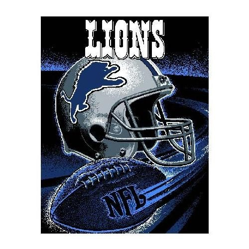 """Detroit Lions Throw - This 48"""" x 60"""" loom woven triple-layer jacquard throw blanket is made of 100% acrylic and features a football spiral design. - $39.99"""