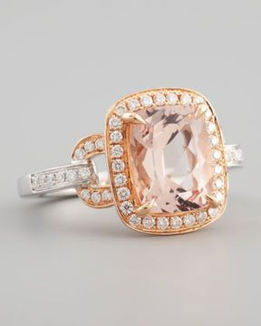 Frederic Sage 18K Pink Gold One and Only Morganite Ring, Size 7