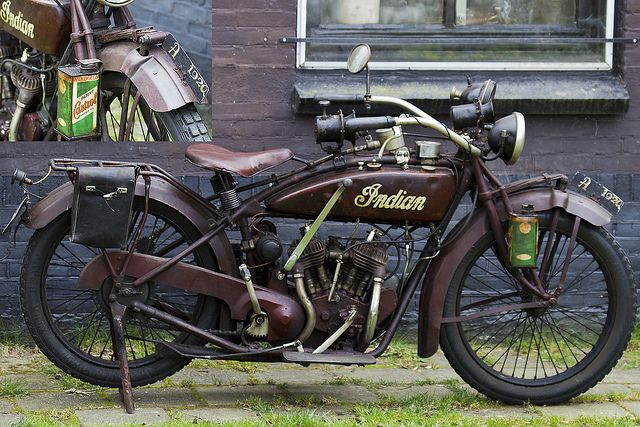Original Indian Scout Motorcycle 1920 Moto Motociclette