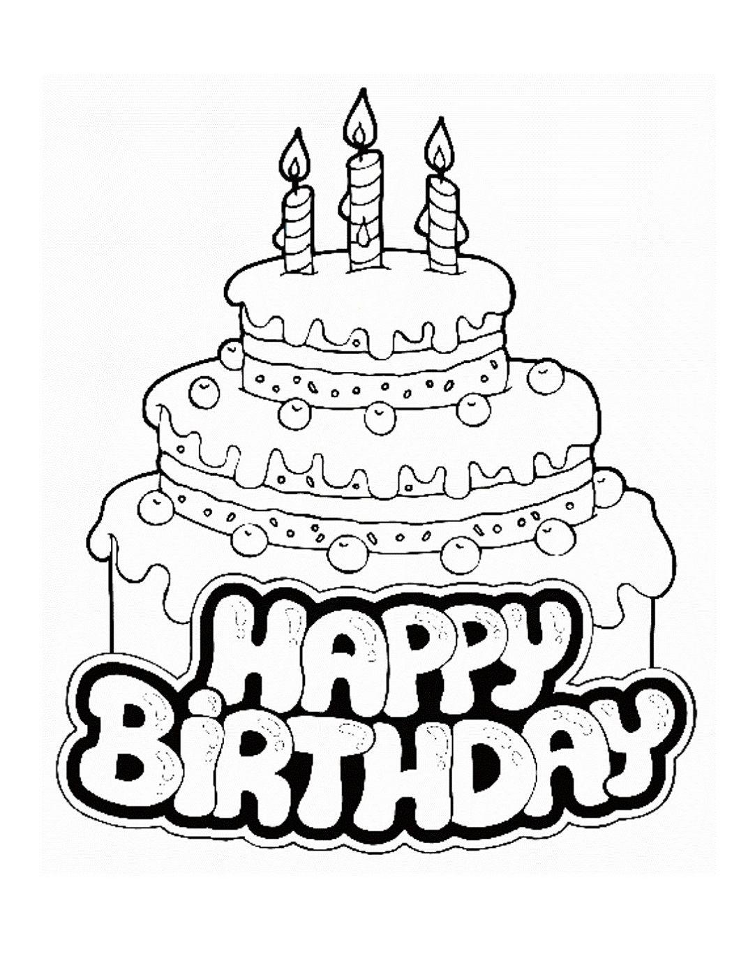 happy birthday color pages happy birthday printable