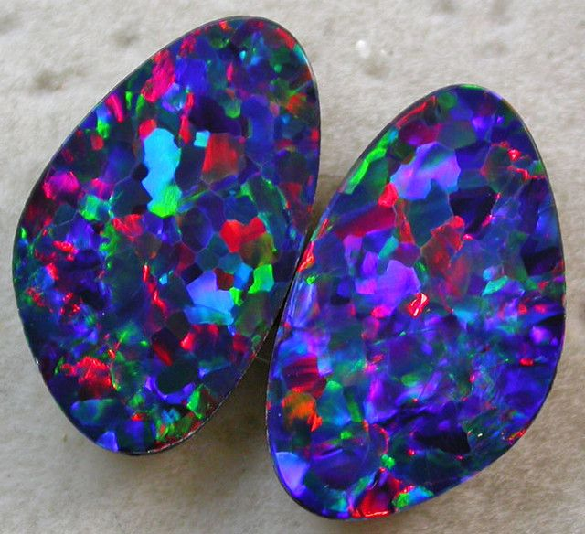 Opal Doublet Pairs Auction 316479 Opal Auctions Stones And Crystals Minerals And Gemstones Rocks And Gems