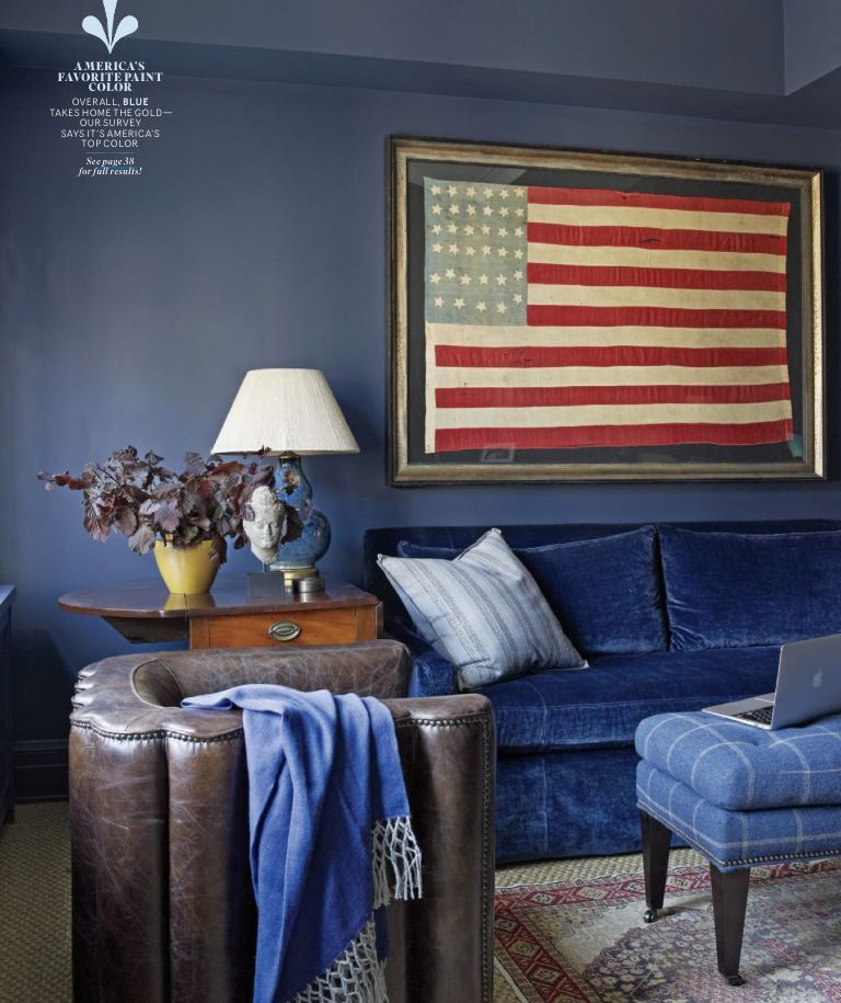 Framed American flag | Living Room | Pinterest