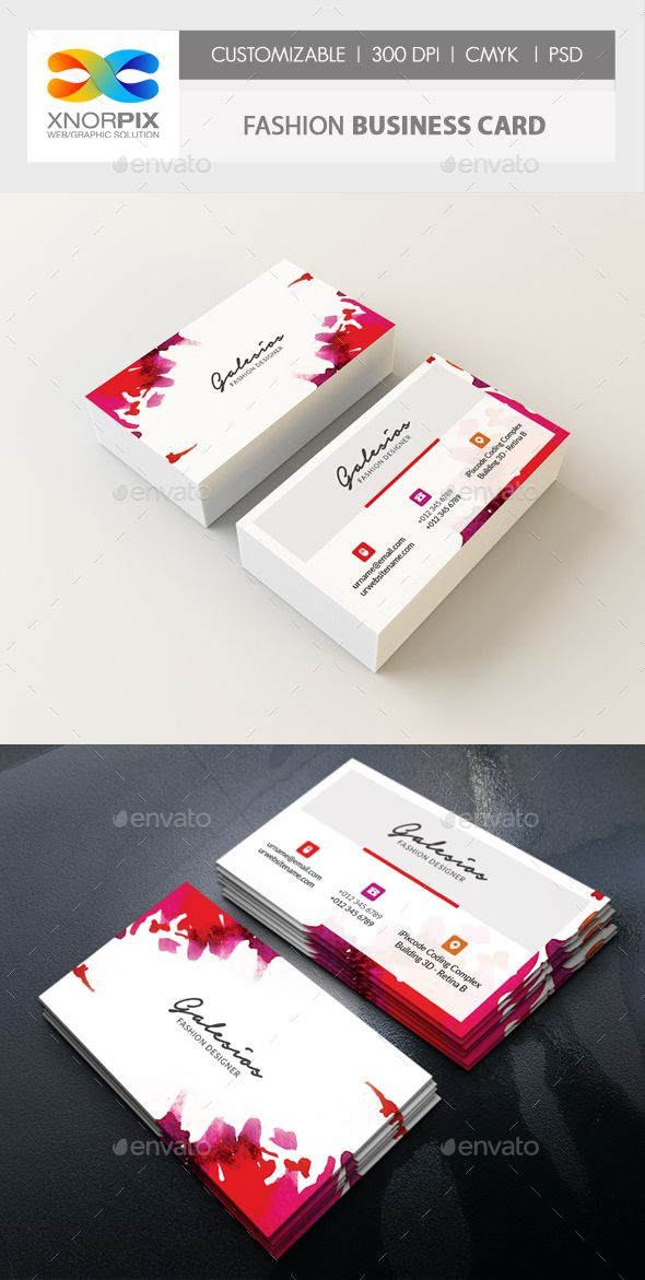 Fashion Business Card Fashion Business Cards Business Card Design Modern Business Cards