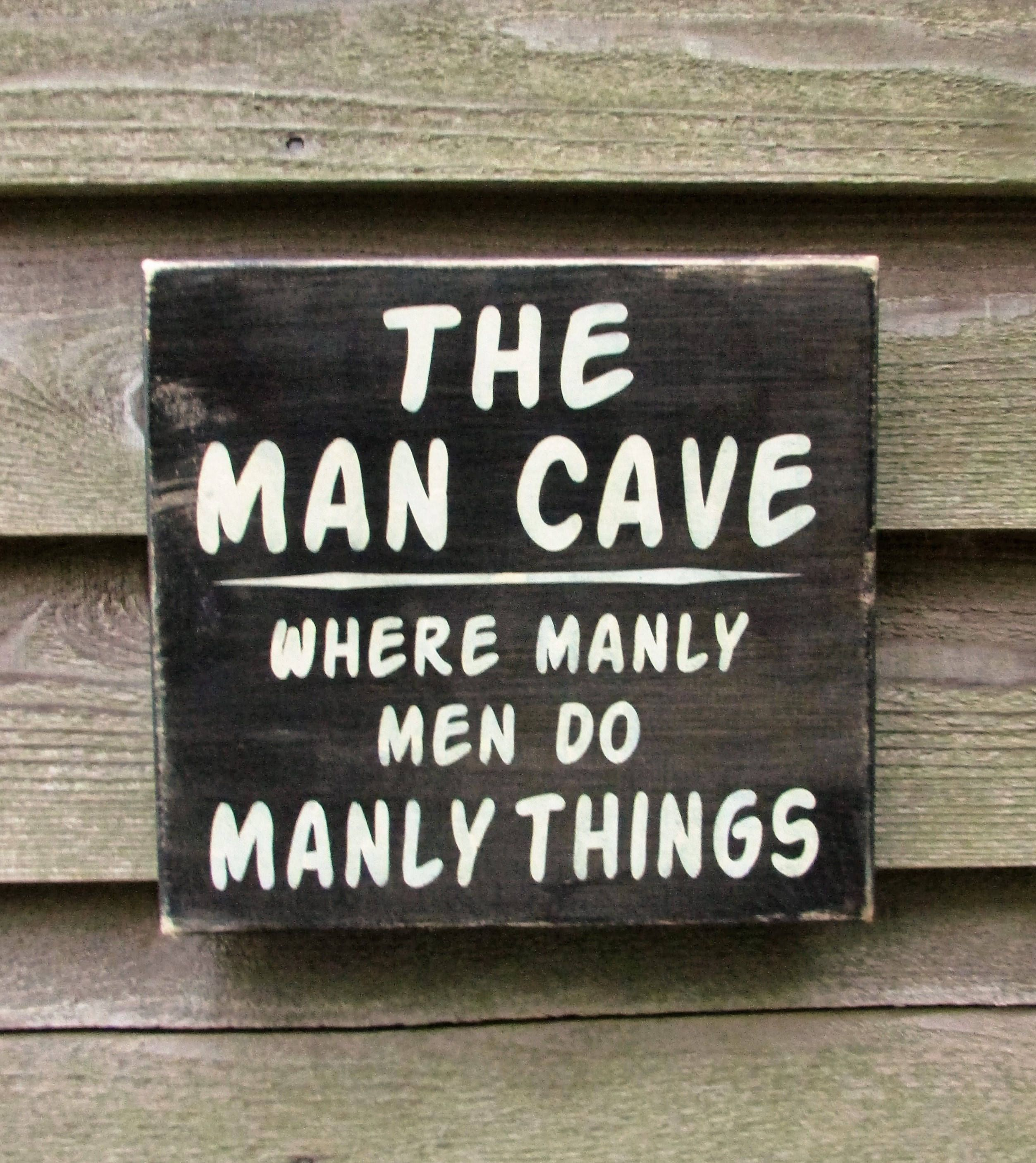 Man Cave Sign Gift For Dad Gift For Grandpa Primitive