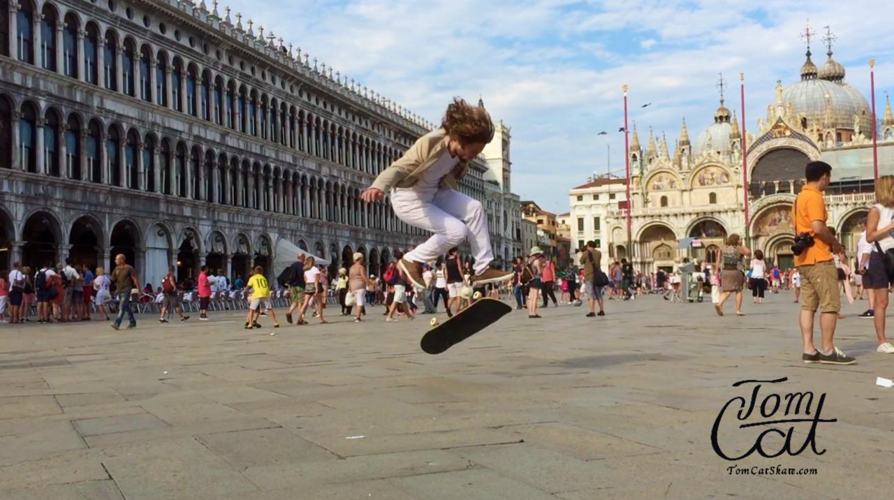 Skateboarding in Venedig Italien, Venice Italy