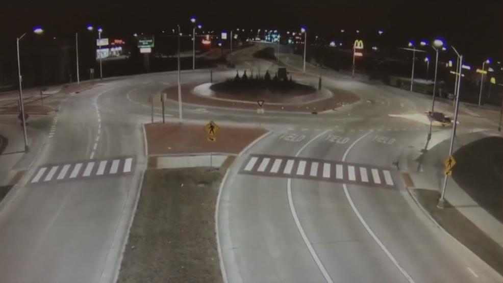 VIDEO Sparks fly as driver speeds through Appleton