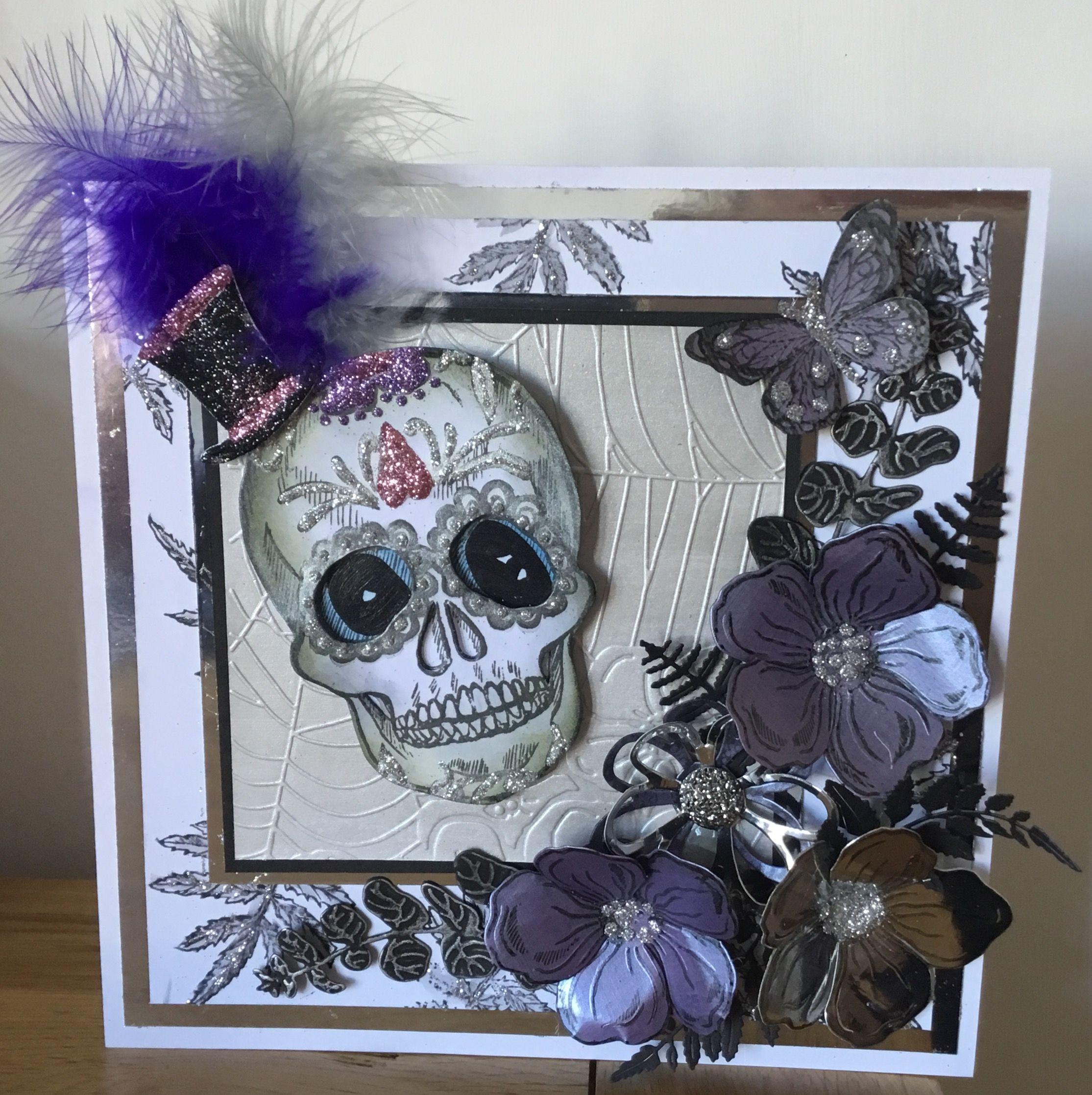 Sheena Douglass Day of the Dead birthday card