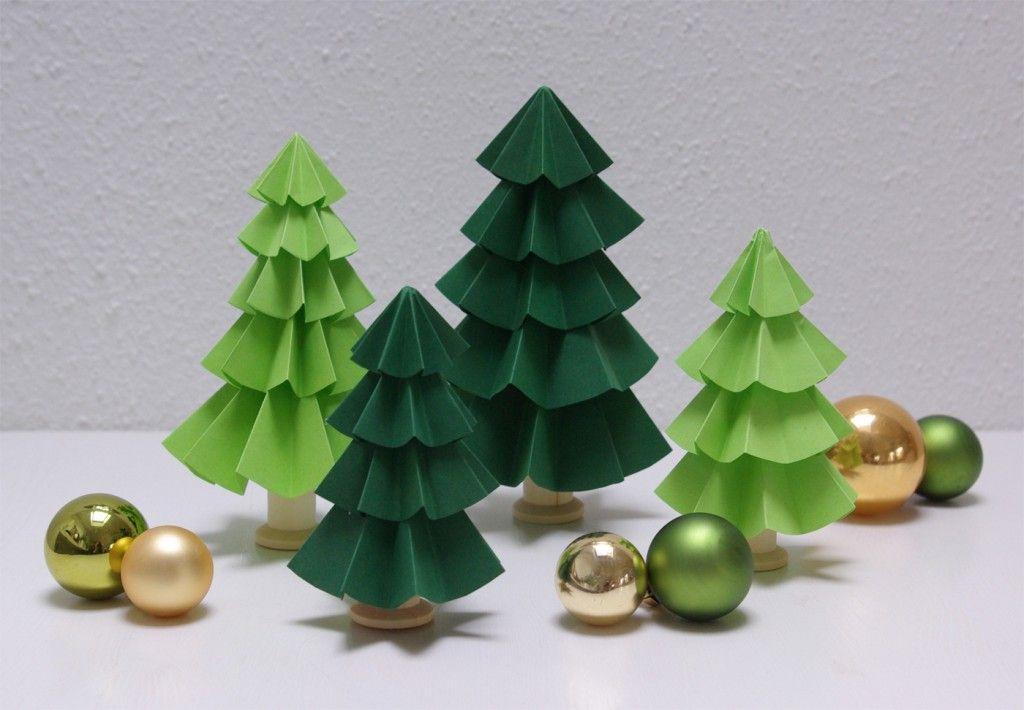 Origami Tannenbaum Falten Origami Tanne Falten