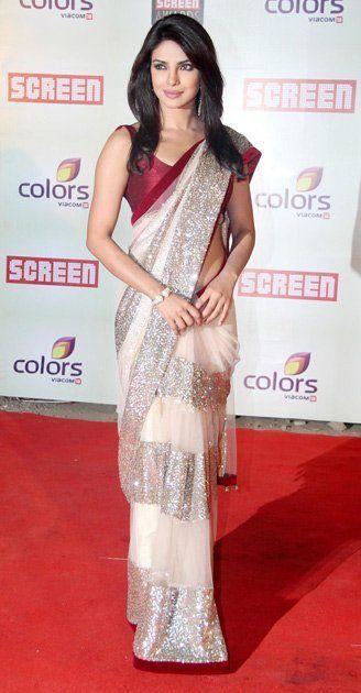 4fe7823e3 indian bollywood priyanka chopra wedding designer embroidery saree sari aa  | eBay