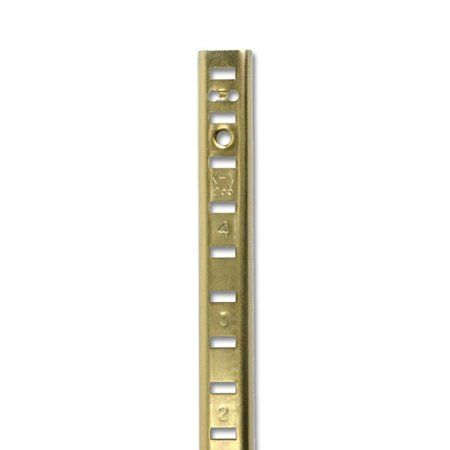 Shelf Standards Satin Brass 36 Inch 100 Box Use Screw 0 Fpc04