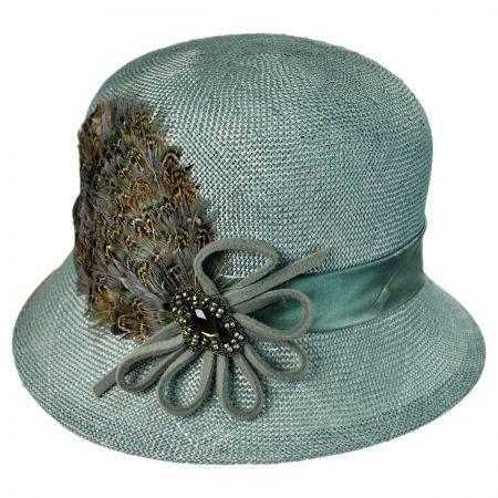 Toucan Plume Cloche Flapper Hat 57e86c2e29