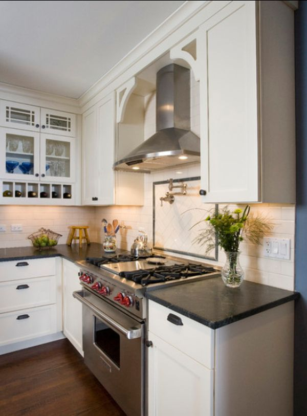Kitchen Hood Designs. white kitchen stainless hood  Hoods Kitchens and Traditional