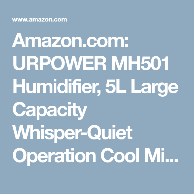 : URPOWER MH501 Humidifier, 5L Large Capacity