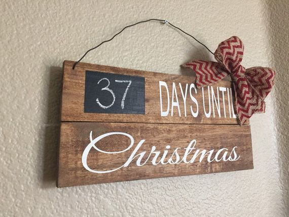Days Until Christmas Pallet Sign by RusticFamilyDesigns on Etsy