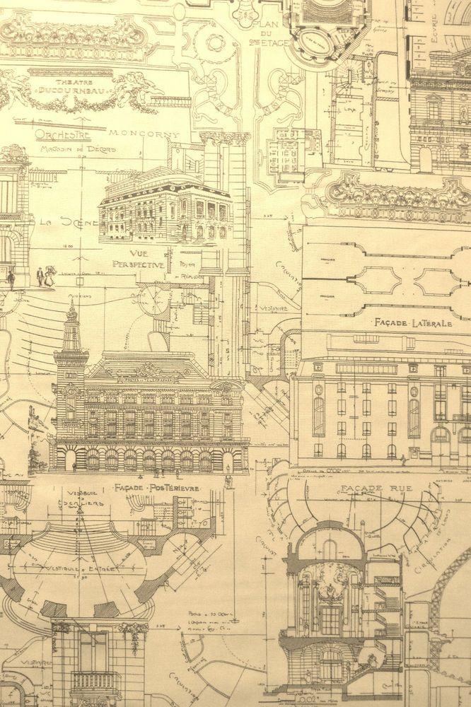 Moda fabric passport paris architecture blueprints yards moda fabric passport paris architecture blueprints yards moda malvernweather Image collections