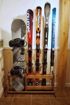 Handcrafted Free Standing Wooden Ski Rack Ski Rack