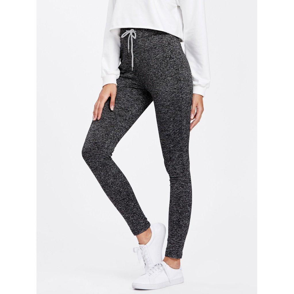 813be463c4ec4c Drawstring Waist Skinny Leggings Grey | Sweatshirts/Shirts/Shorts ...