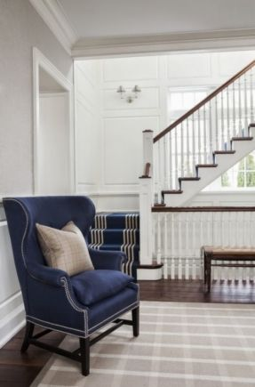 Navy Blue Wingback Chairs Hanging Chair With Stand Pier One Inspired By Click Thru To See Some Great Examples And Stair Runner S B Long Interiors