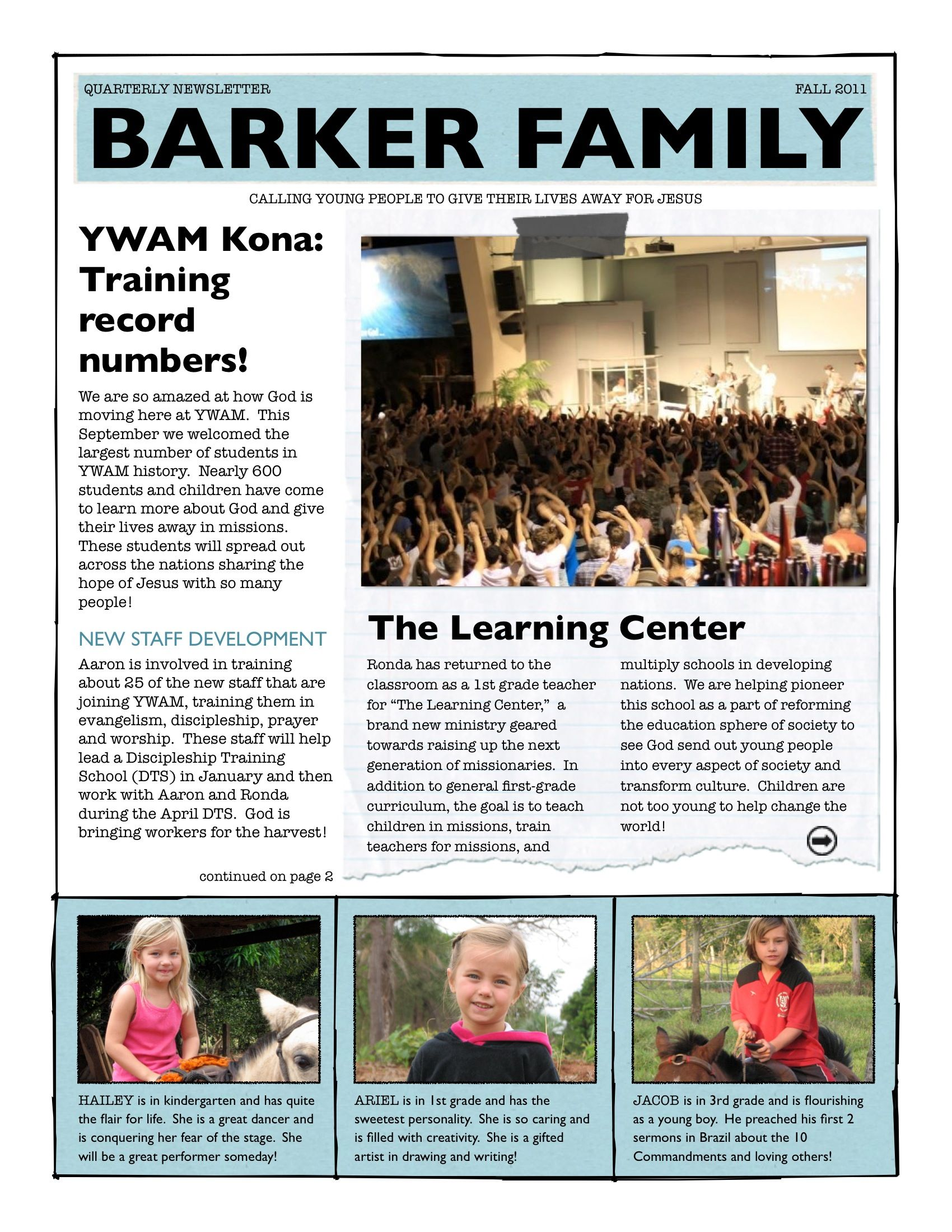 family news letter - Khafre