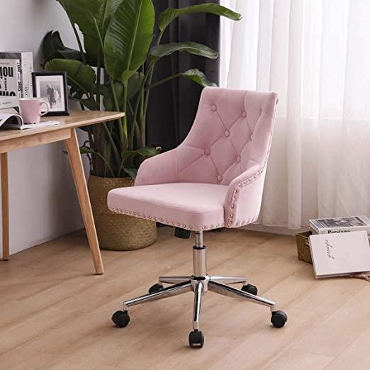 zoyo rose chaise de bureau en velours