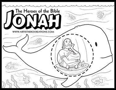 The Heroes Of The Bible Coloring Pages Jonah Sunday