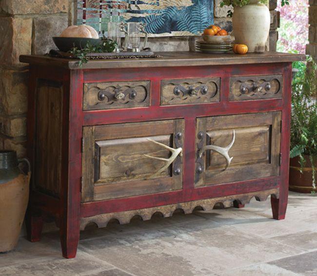 antler aldker wood table from lone star western decor chalet pinterest deko ideen und. Black Bedroom Furniture Sets. Home Design Ideas