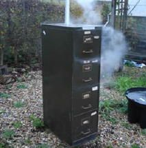 smoking food... in a filing cabinet - who knew? This is brilliant ...